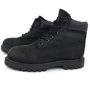 Timberland Black Leather High Top Boots